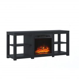 4-Shelf Media Fireplace TV Stand