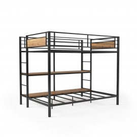 Austen Full Over Twin Bunk Bed with Open Bookshelves