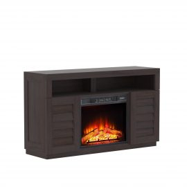 Ellis Shutter Media Fireplace
