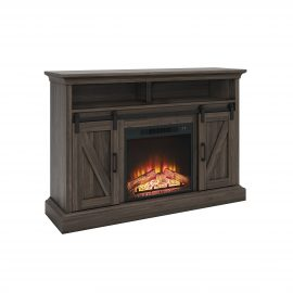 Allston Barn Door Media Fireplace