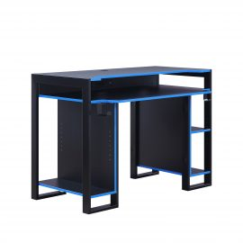 Gaming Computer Desk with Blue trim