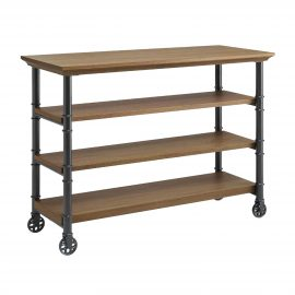 Santa Fe Kitchen Cart with Wine Rack